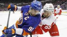 John Tavares of the New York Islanders skates