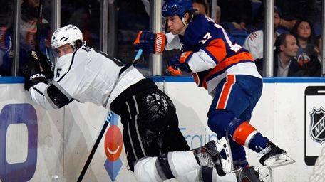 Matt Martin #17 of the New York Islanders