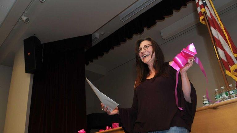 Huntington Matters president June Margolin introduces the organization's