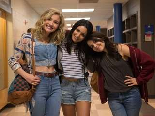 From left, Skyler Samuels, Bianca Santos and Mae