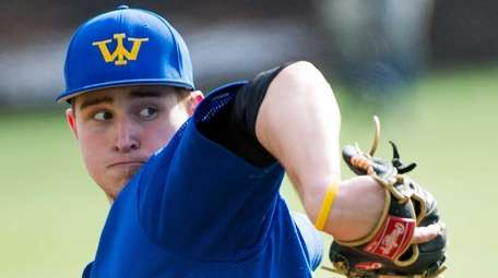 West Islip starting pitcher James Kory pitches against