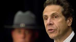 New York Gov. Andrew Cuomo is seen in
