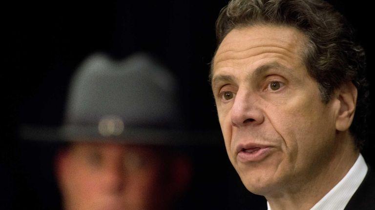 New York Gov. Andrew Cuomo is seen in