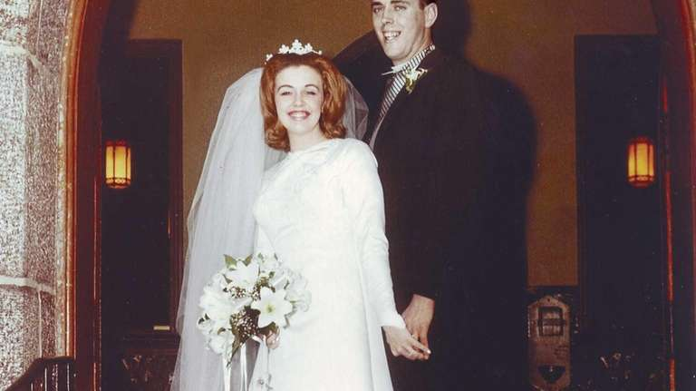 Eileen and Neil Fenton on their wedding day,