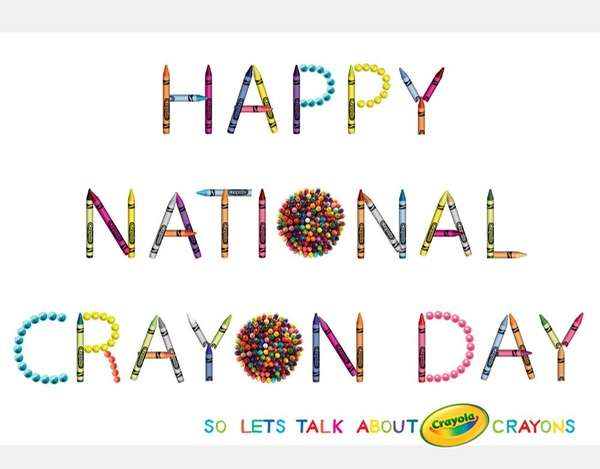 March 31 marks Crayola's National Crayon Day.
