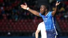 Jozy Altidore of the USA reacts during an