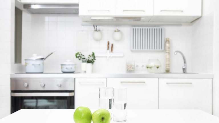 Make your kitchen appear larger with a monochromatic