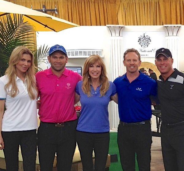 Long Island golf fitness expert John Ondrush, right,