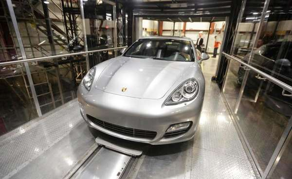 A Porsche Panamera Turbo is used to test
