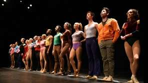 "The dancers in ""A Chorus Line"" step up"