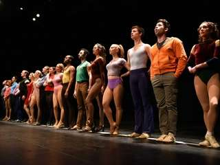 """The dancers in """"A Chorus Line"""" step up"""