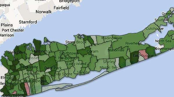 A portion of the State school aid map