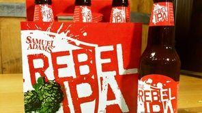 "Samuel Adams' Rebel IPA, ""brewed for the revolution,"""