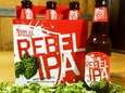 "Samuel Adams' Rebel IPA, ""brewed for the revolution,"""