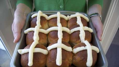 Hot cross buns are traditional on Good Friday,