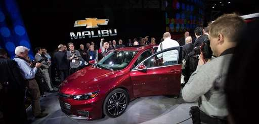 A model of the 2016 Chevrolet Malibu hybrid