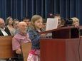 Sydney Smoot expresses her standardized testing concerns during