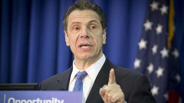 Gov. Andrew M. Cuomo speaks at Farmingdale State