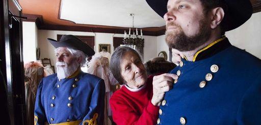 From left, Coram's Steven DeFriest, dressed as Gen.