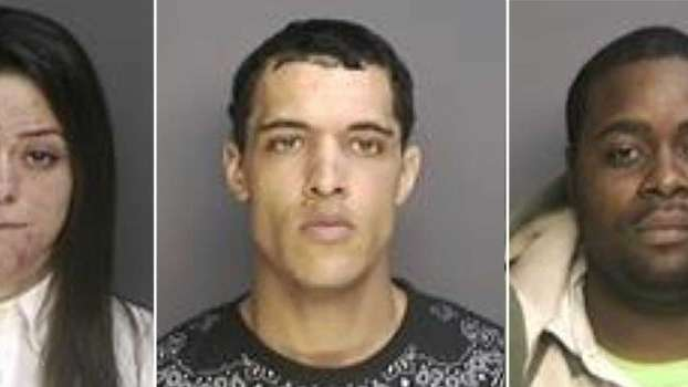 Katarina Bennett, 23, left, was arrested April 1,
