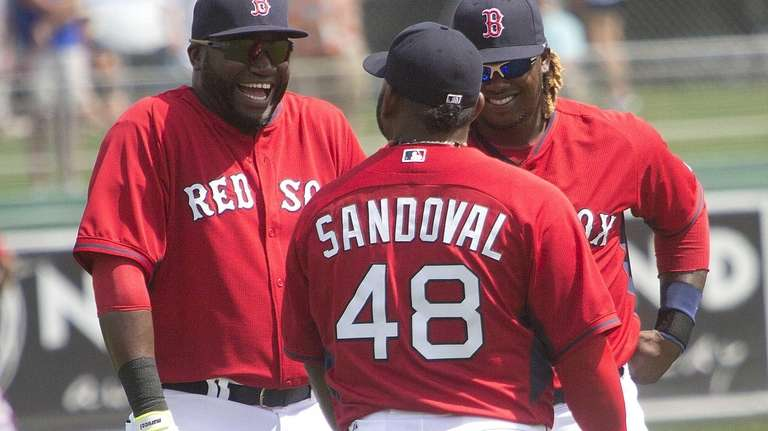 From left, the Boston Red Sox's David Ortiz,