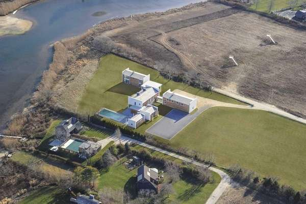 A brand-new, custom Contemporary-style 10-bedroom Bridgehampton house is