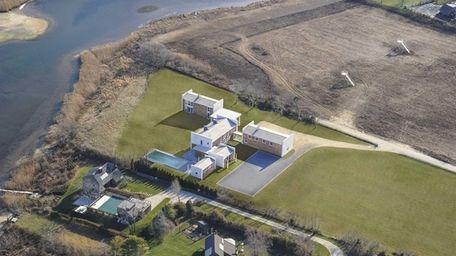 A brand-new, custom Contemporary-style 10-bedroom Bridgehampton house is