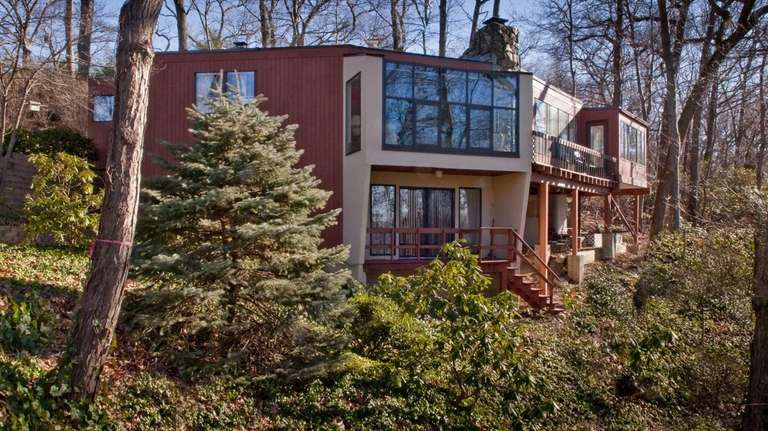 This modern-style home at 789 Connecticut View Dr.,