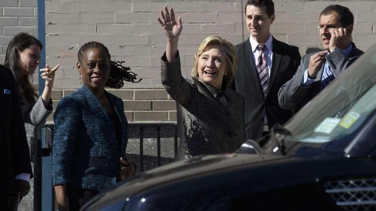 Former Secretary of State Hillary Rodham Clinton waives