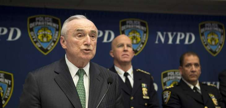 Police Commissioner William J. Bratton speaks during a