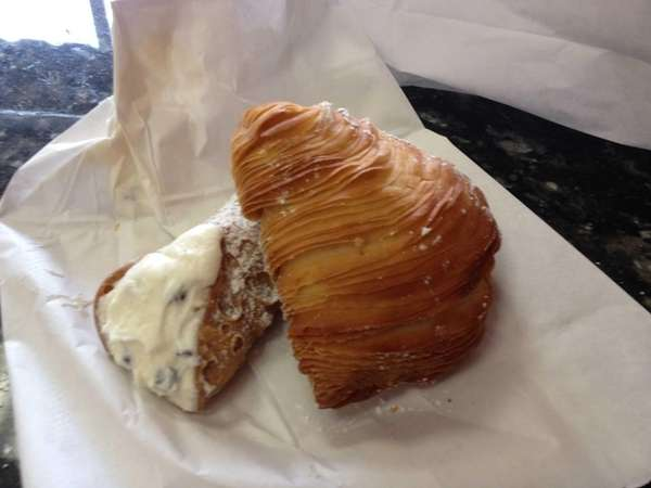 Cannoli and sfogliatelle are among the treats at