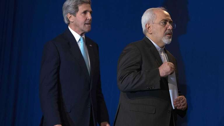 U.S. Secretary of State John Kerry, left, and