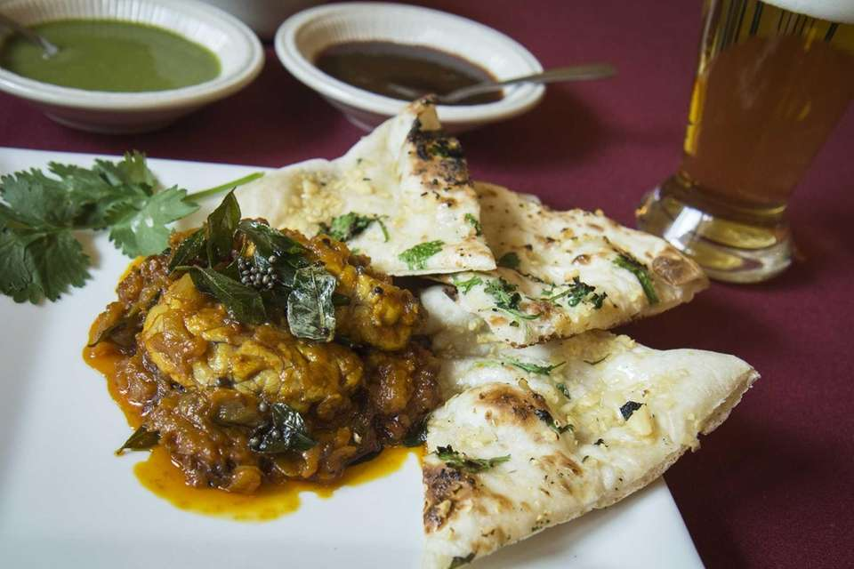 Goat brain masala at Southern Spice, New Hyde