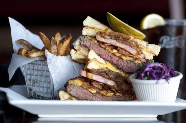 Grilled cheese cheeseburger at Brixx and Barley, Long