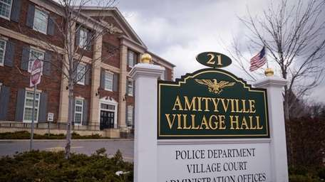 Amityville Village Hall is shown on Feb. 25,