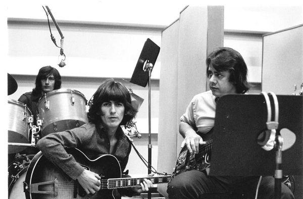 George Harrison and Joe Osborn in