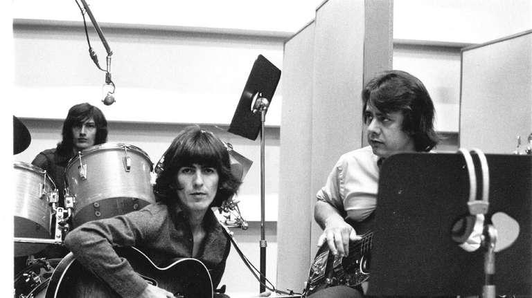 George Harrison and Joe Osborn in