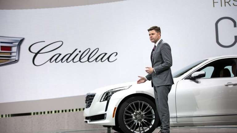 Cadillac executive Andrew Smith introduces the new CT6