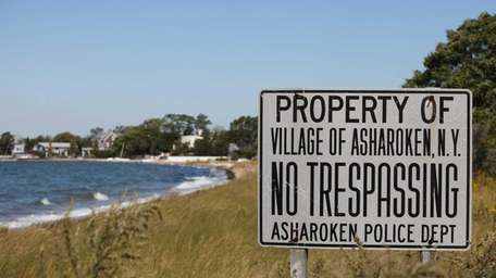 A no tresspassing sign is pictured at the