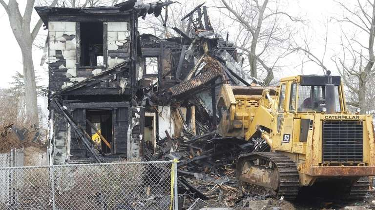 The Town of Hempstead razes the home where