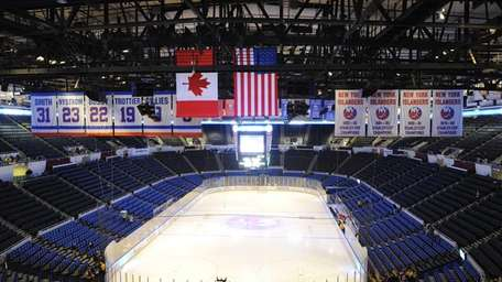The ice at Nassau Coliseum before action between