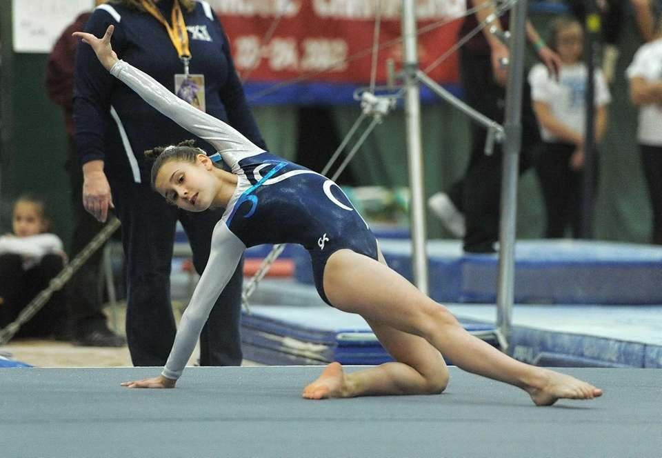 Katie Bowe entered last year's state gymnastics tournament