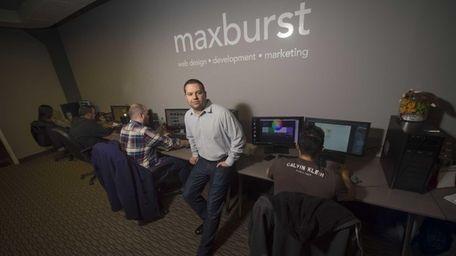 Andrew Ruditser, co-owner of Farmingdale-based MaxBurst Inc., a