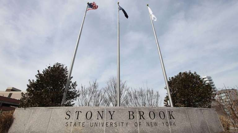 The entrance to the west campus of Stony