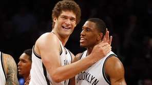 Brook Lopez , Thaddeus Young and Deron Williams