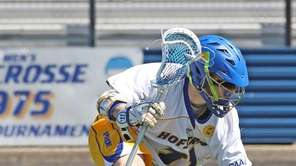 Hofstra's Brendan Kavanagh goes to the ground and