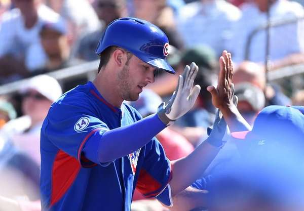 Kris Bryant of the Chicago Cubs celebrates with
