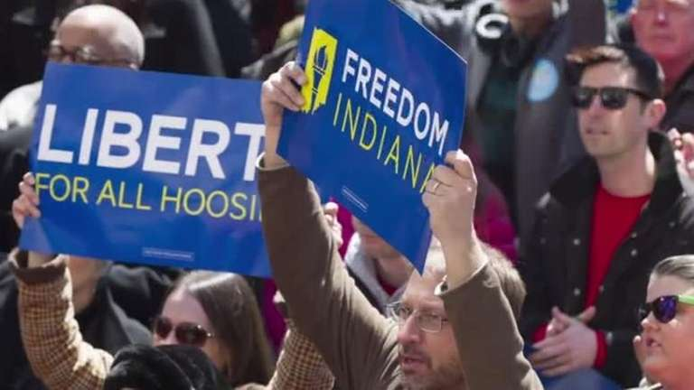 Thousands protest Indiana's Religious Freedom Law on March