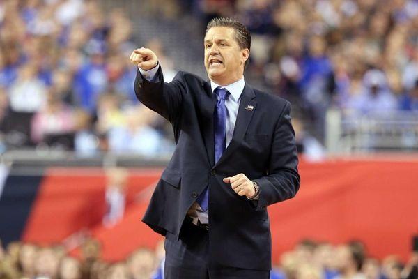 Head coach John Calipari of the Kentucky Wildcats
