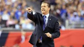 Head coach John Calipari of the Kentucky Wildcats